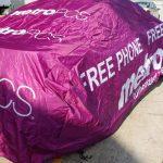METRO PCS ADVERTISING CAR COVER FREE PHONE FREE 4G LTE 1