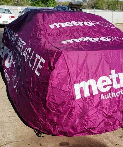METRO PCS ADVERTISING CAR COVER FREE PHONE FREE 4G LTE 3