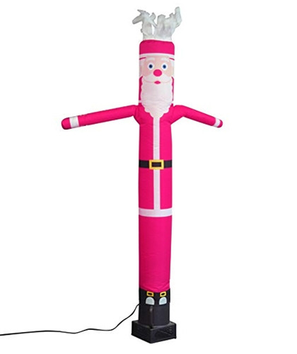 20ft Santa Claus in bright pink color