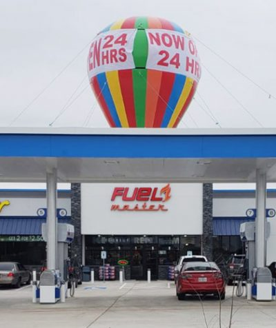 Rainbow Gas Station Inflatable Giant Roof Top Balloon 20 Ft Buy Or Rent