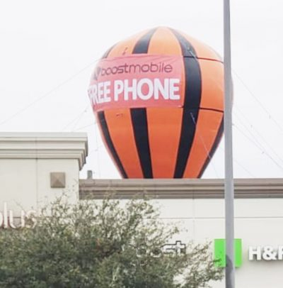 boot-mobile-free-phone-Inflatable-Giant-Roof-Top-Balloon-20-Ft