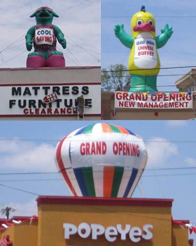 Giant Inflatable Rooftop Balloons