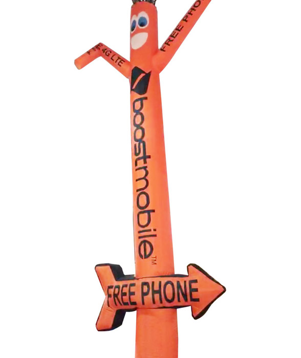 Boost Mobile Air Dancer With Arrow Sign