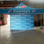 Domino's Advertising Tent