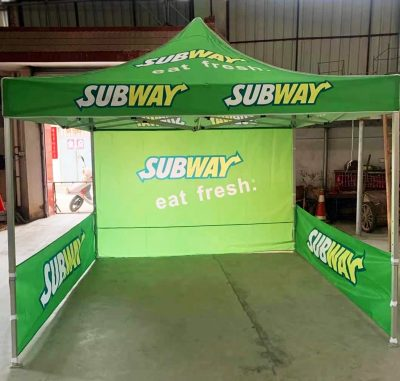 Subway advertising tents sale