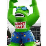 Giant inflatable green gorilla 20ft