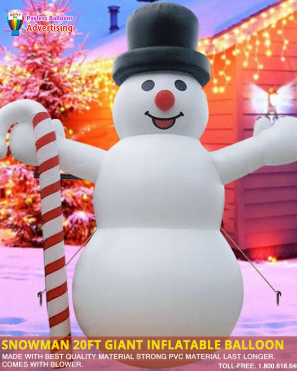 Snowman 20Ft Giant Inflatable Balloon