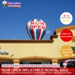 now open Inflatable RENTAL SALE