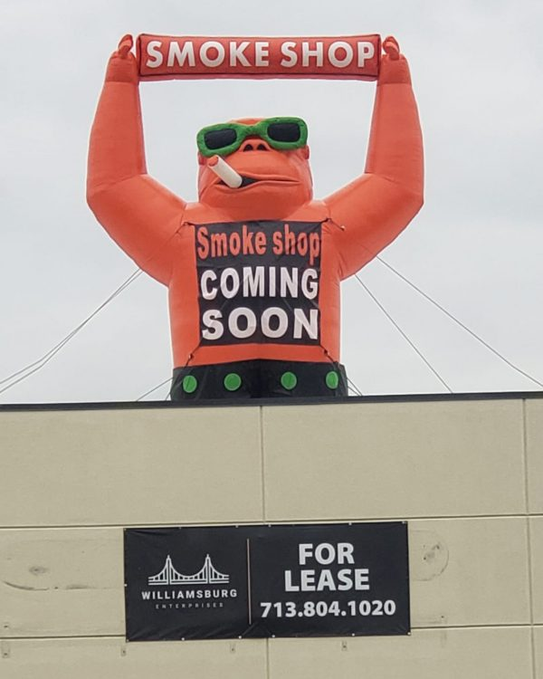 22 Ft Smoke Shop Giant Inflatable Gorilla