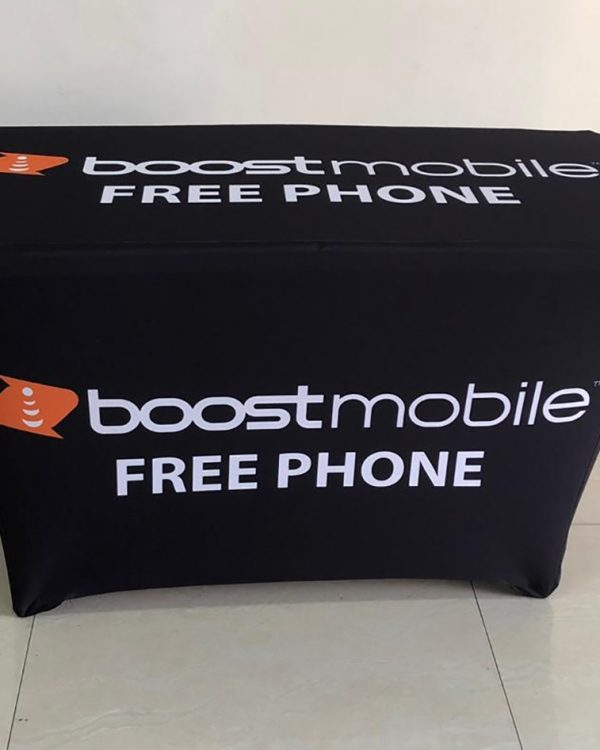 Boost Mobile table cover 4ft