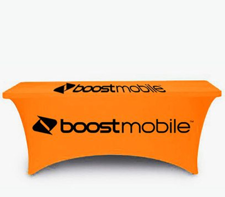 Free Phone Boost Mobile Advertising Table Cover
