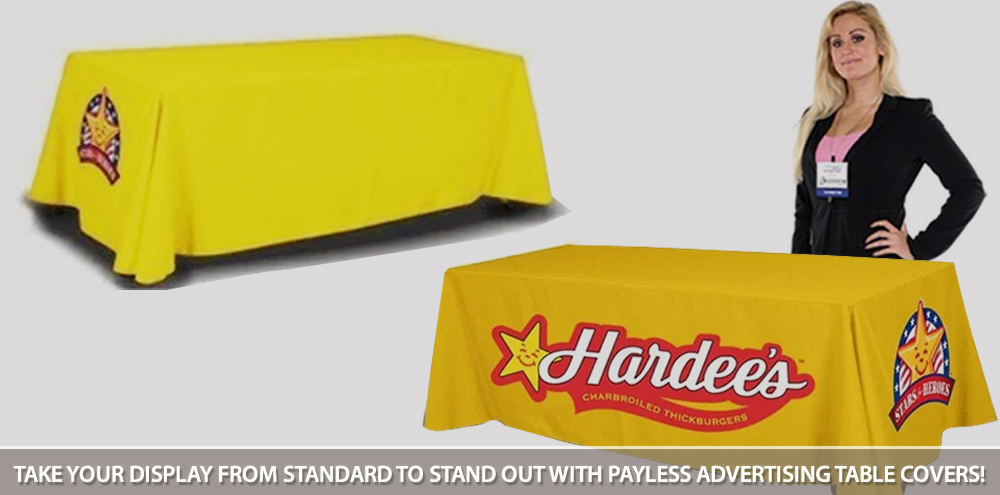 Payless advertising table covers online