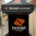 Boost-Mobile-Free-Android-Pop-Up-Advertising-Folding-Tent-5-x-5-ft-Black
